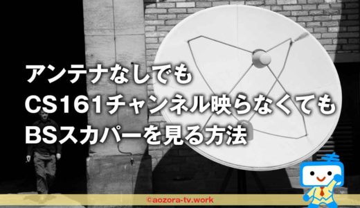 BSスカパーはアンテナなしでCS161チャンネルが映らなくても見れる!どうしても見たい番組を見逃さない方法
