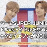 スカパーでSUPER JUNIORのアイドルvsアイドルを見るには?スマホでは?KNTVバラエティー・イトゥク&イェソンがMC!